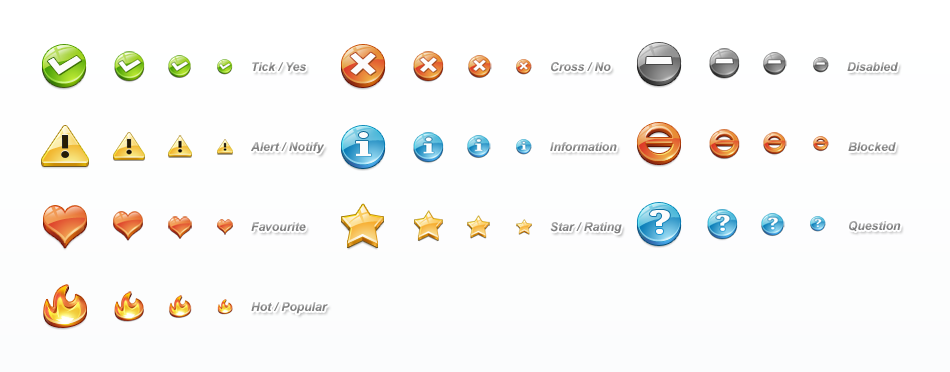 Status Icon Set