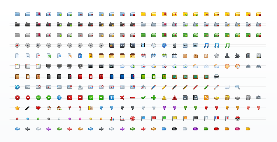 Colored Mini Icon Set
