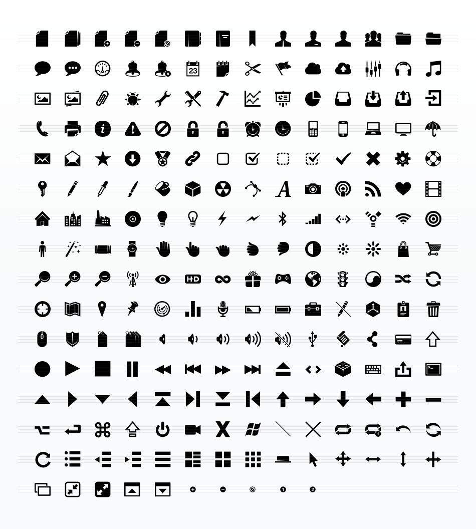 Pictograms Glyphs Icon Set