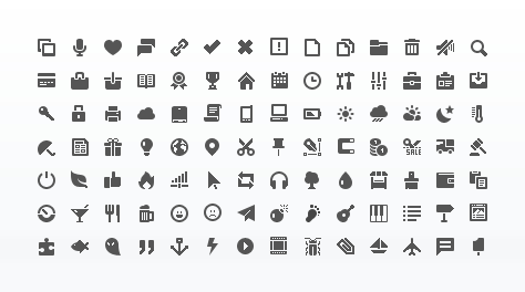 Minimal Vector Mini Icon Set