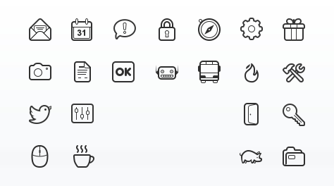 Simplicity Vector Icon Set