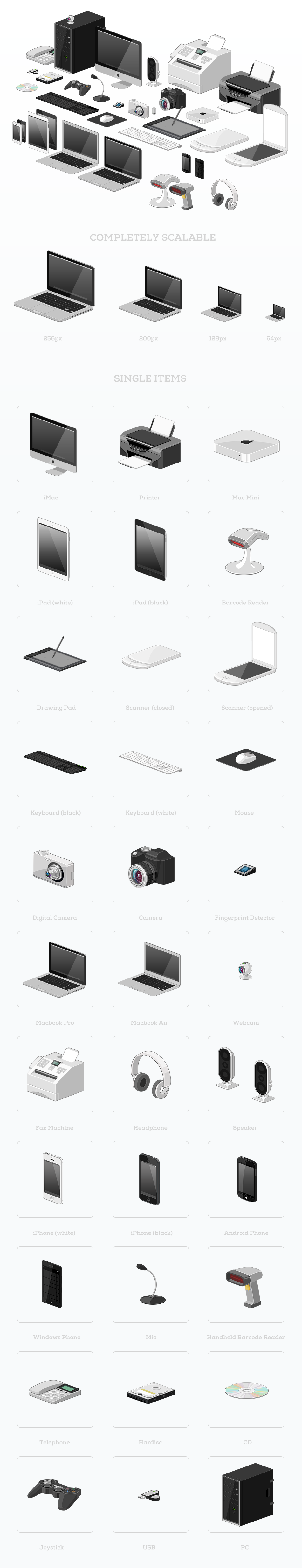 Vector Device Icon Set