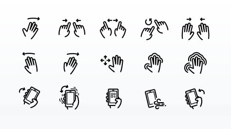 Gesture Vector Icon Set