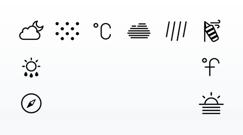 Weather Glyph Set
